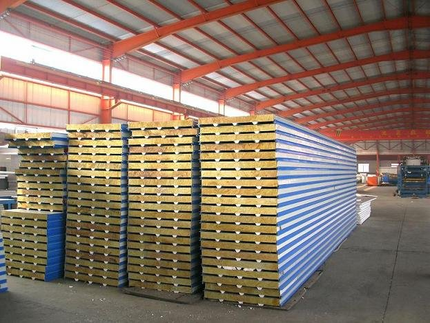 Metal Rock Wool Sandwich Panel Roof Tiles Metal Eps